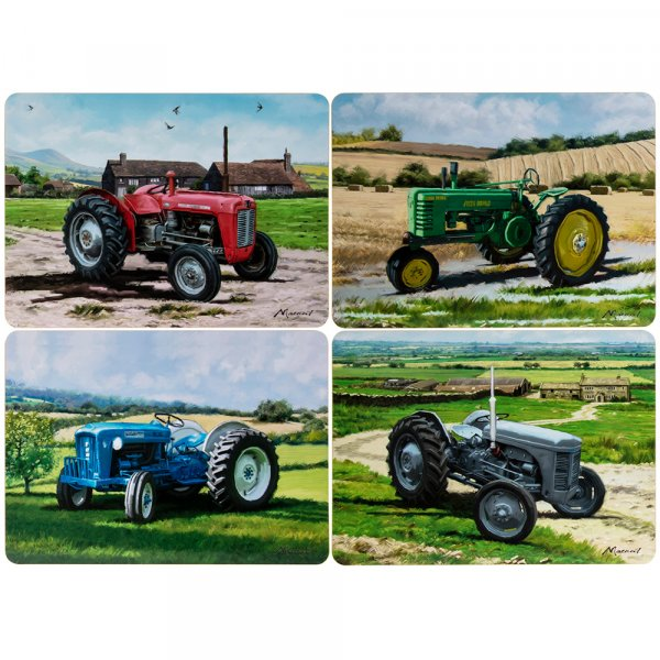 Set Of 4 Tractor Dinner Place Mats