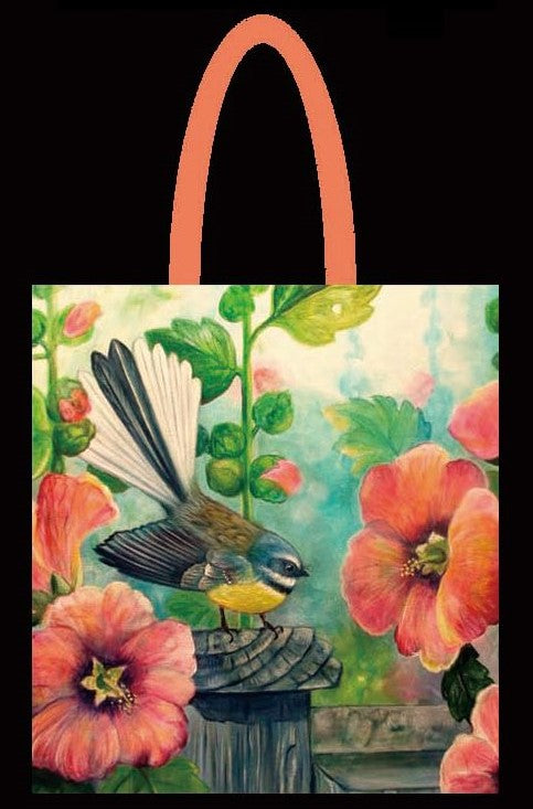 Fantail Hollyhock Tote Bag