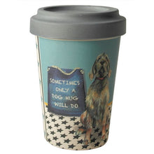 Load image into Gallery viewer, 'Dog Hug' Bamboo Travel Cup