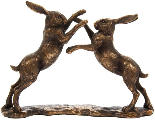 Fighting Hares Ornament