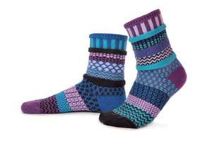Raspberry Adult Crew Solmate Socks