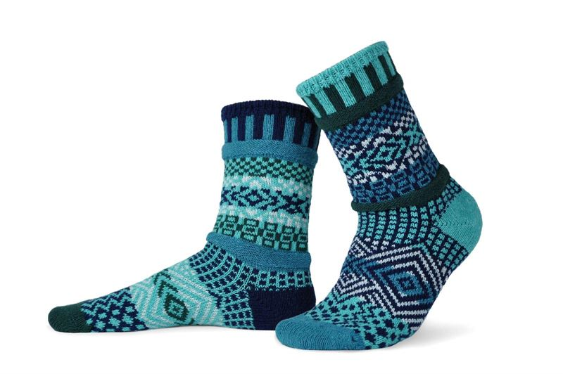 Evergreen Adult Crew Solmate Socks
