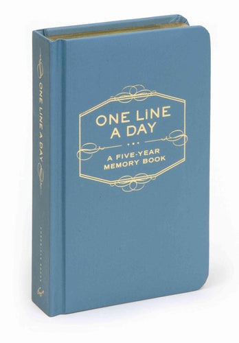 Blue One Line A Day Memory Journal