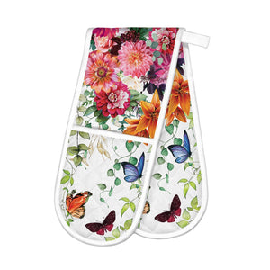 Sweet Floral Melody Double Oven Glove