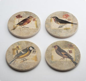 Coasters Exotic Birds Set of 4