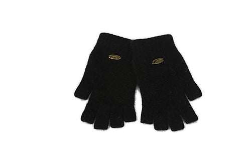 Merino Possum Fingerless Gloves Black