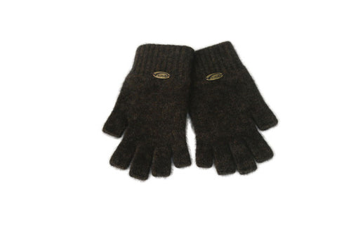 Merino Possum Fingerless Gloves Espresso