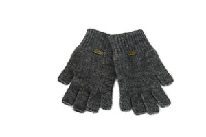 Merino Possum Fingerless Gloves Mid Grey