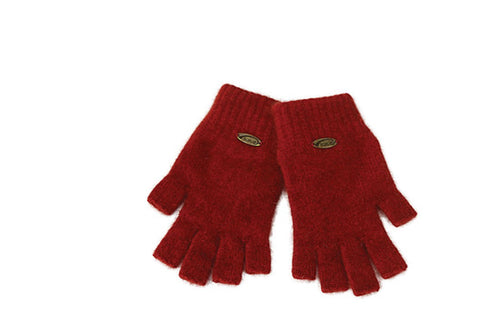 Merino Possum Fingerless Gloves Rata