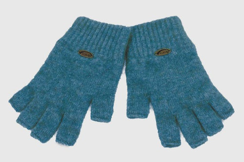 Merino Possum Fingerless Gloves Lagoon