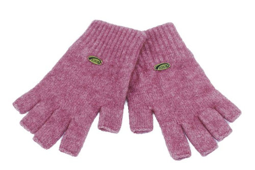 Merino Possum Fingerless Gloves Rose