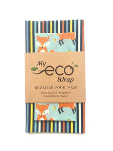 My Eco Wrap Little Fox - Lunch Pack