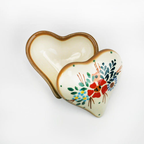Country Pride Heart Trinket Box