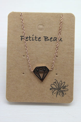 Petite Gold Pyramid Necklace