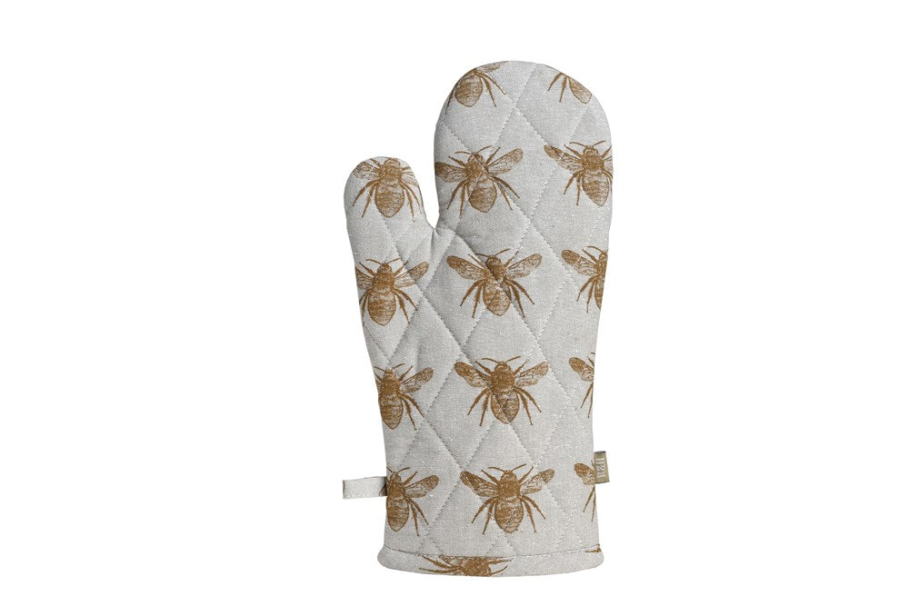 Honey Bee Single Oven Glove Mustard
