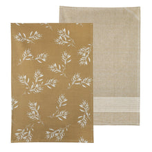 Load image into Gallery viewer, Mustard Olive Grove Tea Towel Pack Set of 2