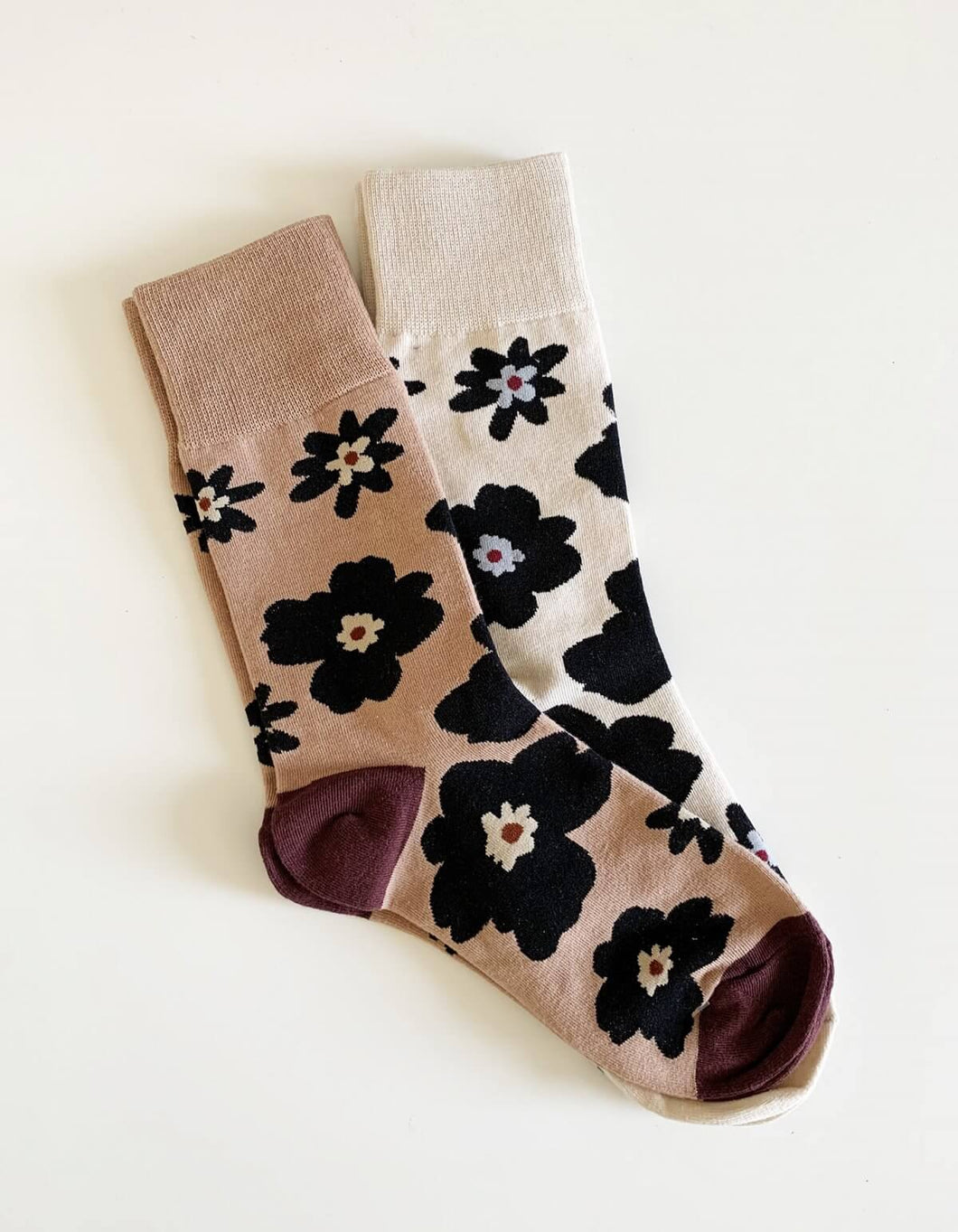 Blush Bloom Socks Set of 2