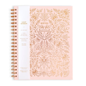Fox & Fallow Rose Quartz Large Spiral Notebook