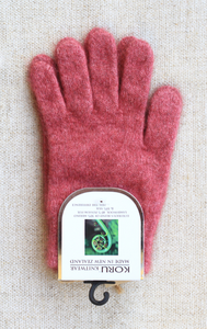 Merino Possum Gloves Rose