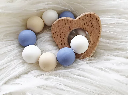 Heart Shaped Wood / Silicone Ring