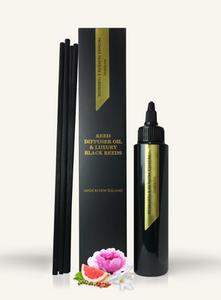 PEONIES PEPPERS & TUBEROSE REED DIFFUSER OIL & LUXURY BLACK REEDS