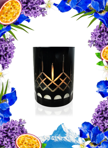 IRIS & WHITE WATER CRYSTAL SERIES LONG BURNING ORGANIC COCONUT WAX CANDLE
