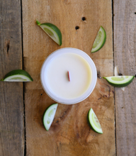 Load image into Gallery viewer, Kowhai Blossom + Lime Woodwick Candle