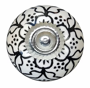 Black & White Lattice Outline Knob