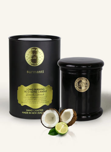 LIME & COCONUT LONG BURNING ECOSOYA CANDLE