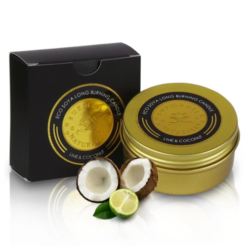 LIME & COCONUT ECO SOYA LONG BURNING TRAVEL CANDLE
