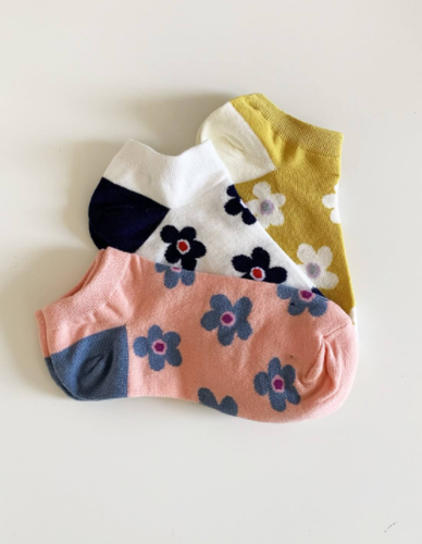 Bloom No Show Socks Set of 3