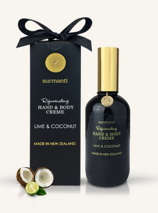 LIME & COCONUT HAND & BODY CREME