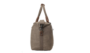 Troop London Edison Waxed Canvas Duffle Bag Dark Brown