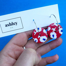 Load image into Gallery viewer, Poppy Red Earrings