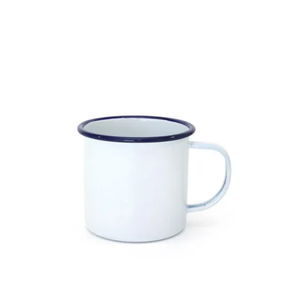 White/Blue Enamel Mug