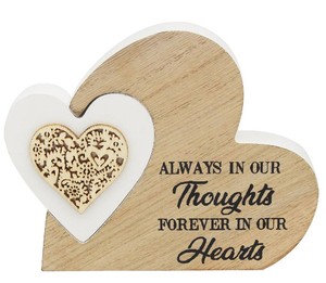 'Always in our thoughts' Wooden Plaque