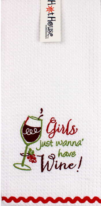 'Wine Girls' Tea Towel
