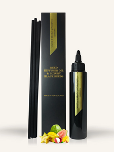 STARFRUIT LYCHEE & GUAVA REED DIFFUSER OIL & LUXURY BLACK REEDS