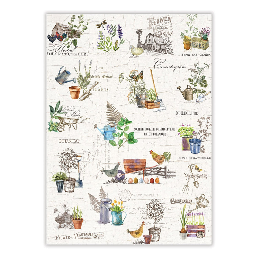 Country Life Tea Towel