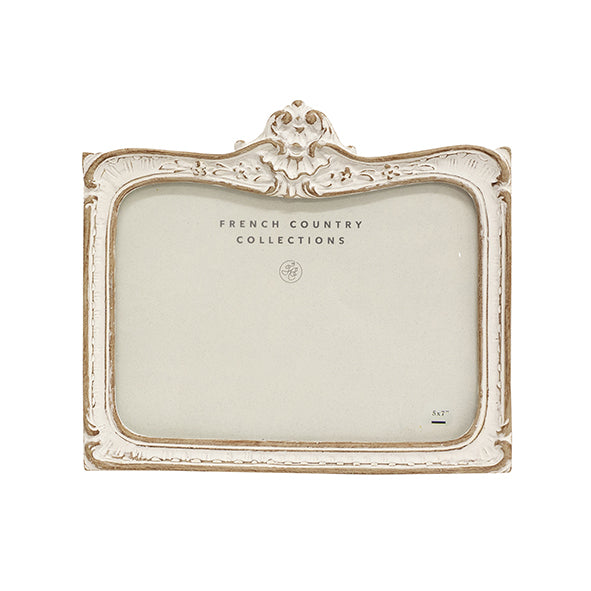 White Wash Rectangle Embellished Frame 5x7