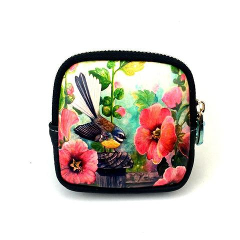 Fantail Hollyhock Coin Purse