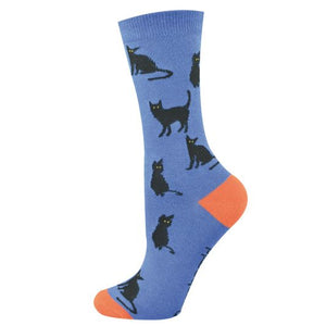 Black Cat Bamboo Sock