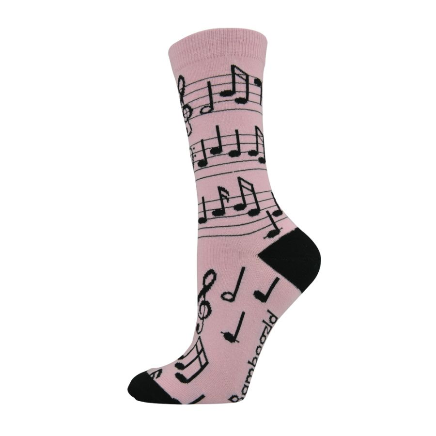 Musical Notes Bamboo Sock