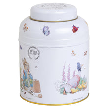 Load image into Gallery viewer, Beatrix Potter Round Tea Caddy (80 Tea Bags)