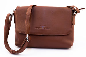Urban Forest Rosa Small Leather Handbag - Redwood
