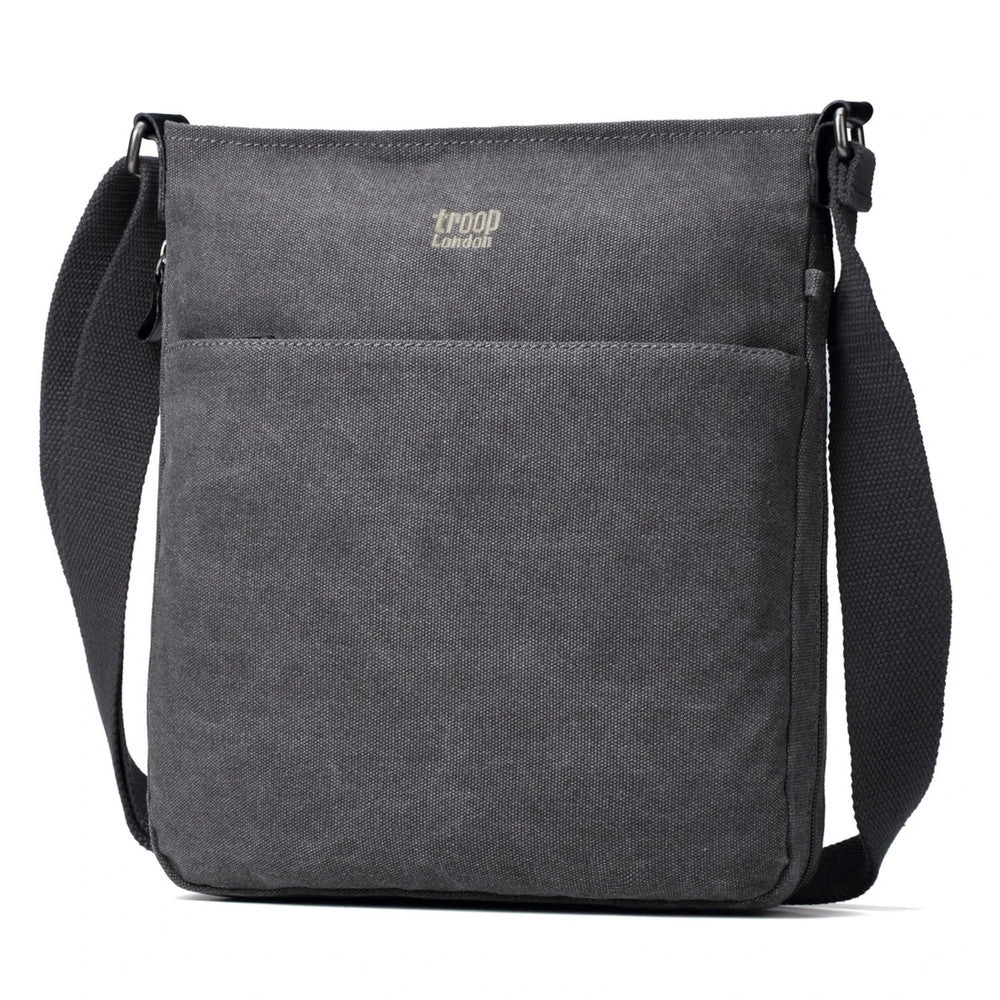 Classic Zip Top Shoulder Bag Charcoal