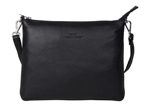 Urban Forest Emma Leather Sling Bag - Black