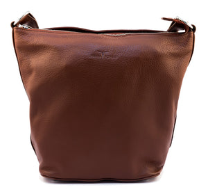 Urban Forest Lotus Leather Handbag - Redwood