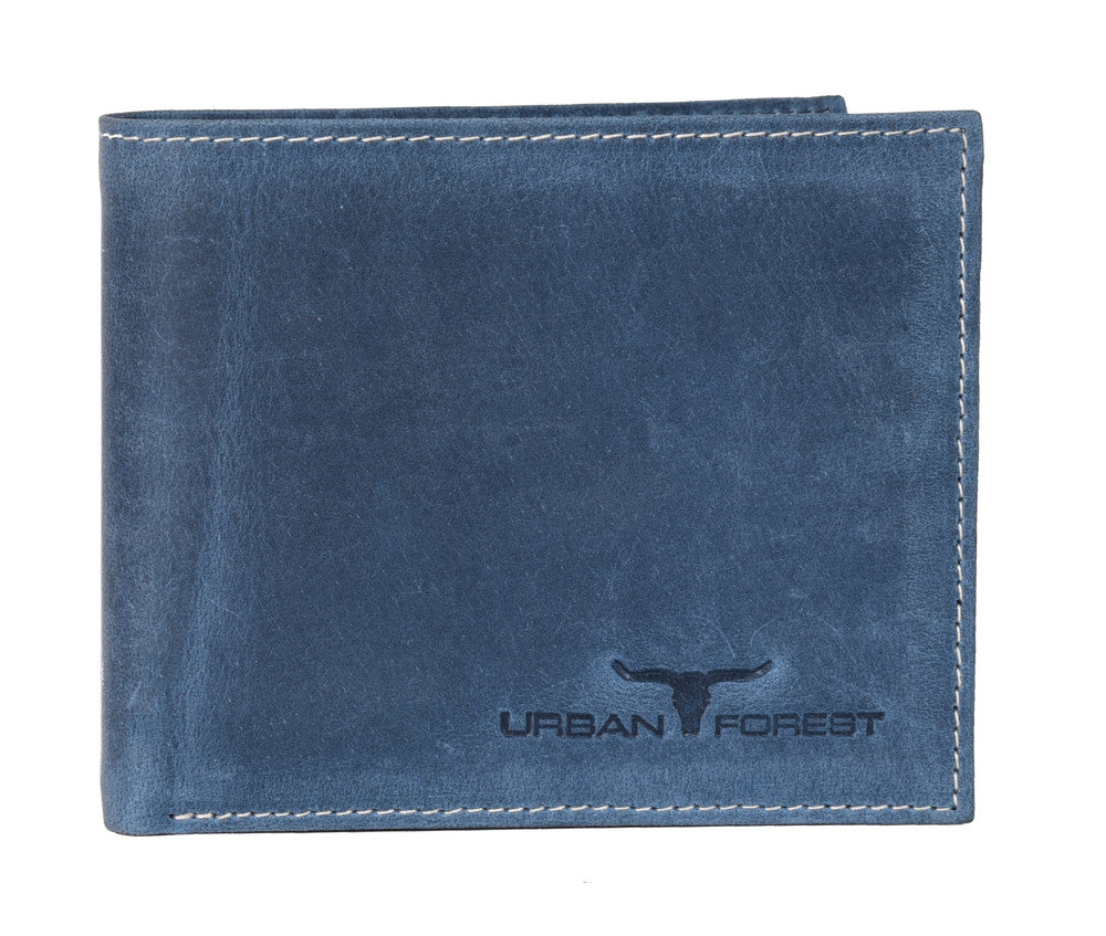 Logan Leather Wallet - Blue