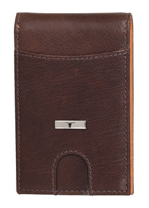 Eddy Slim Leather Wallet in Decker Brown/Mustard